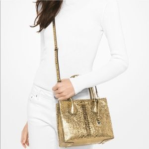 PRICE FIRM - NWT Michael Kors gold leather bag